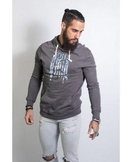 sweatshirt bio léger à capuche