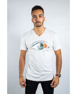 T-shirt col rond contrasté Ky-Kas