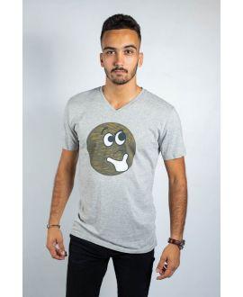 T-shirt bio charlie Chaplin col rond JP Blanchard